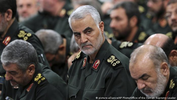 Der getötete General Ghassem Soleimani (M.) im Jahr 2016