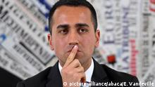March 13, 2018*** Luigi Di Maio, leader of Italy's anti-establishment Five Star Movement and aspiring prime minister attends a press conference at the foreign press association headquarters in Rome, Italy on March 13, 2018. Di Maio's anti-establishment movement was the single-biggest party to emerge from the March 4 parliamentary election, winning 32 percent of the vote. Photo: Eric Vandeville/ABACAPRESS.COM |