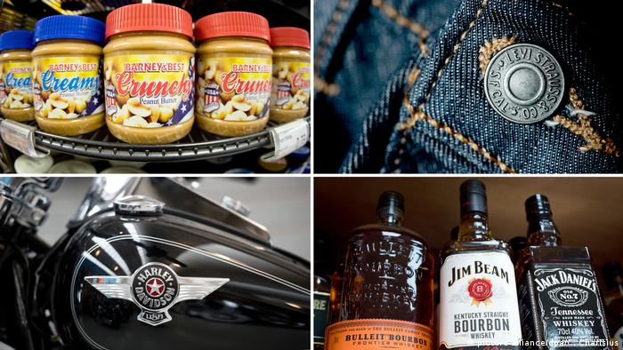 Американские товары, на которые в ЕС могут быть введены ответные пошлины: джинсы, виски, мотоциклы