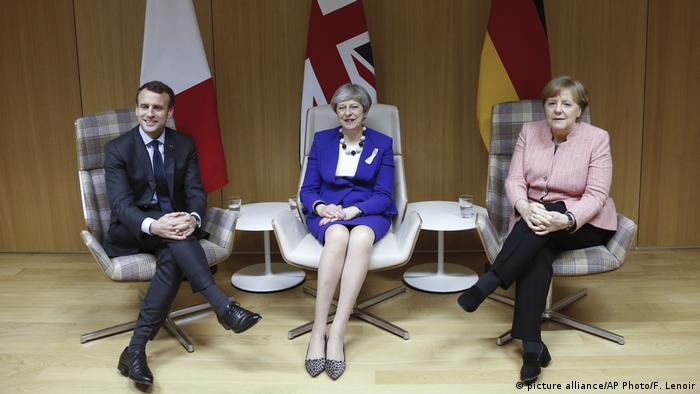 Belgien EU-Gipfel | Macron, May und Merkel (picture alliance/AP Photo/F. Lenoir)