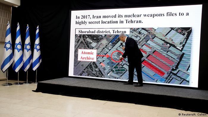 Netanyahu mostra para onde Irã supostamente teria levado seus arquivos nucleares