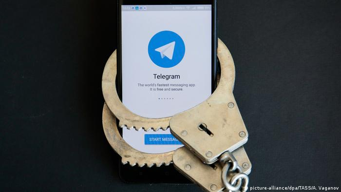 Symbolbild Telegram Messenger blockiert (picture-alliance/dpa/TASS/A. Vaganov)