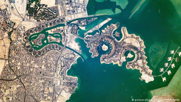 نمایی از جزیره مروارید در خلیج فارس