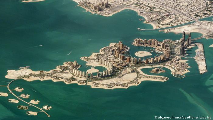 Штучні острови поблизу катарської Дохи (фото з супутника)