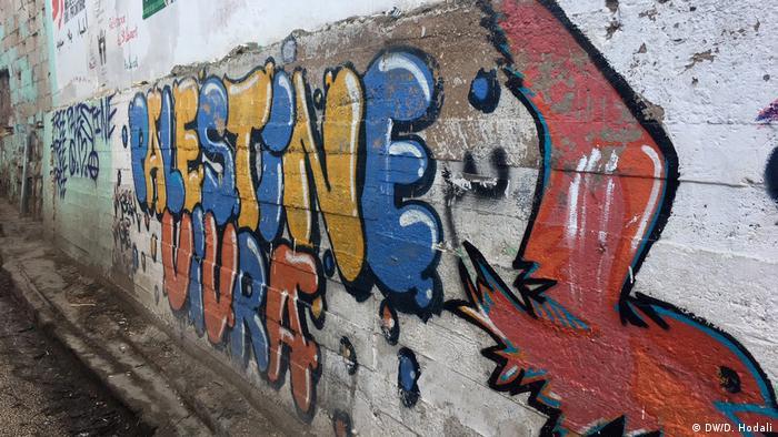 Graffiti in Burj Barajneh camp in Beirut, Lebanon