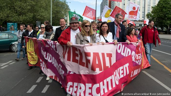 May 1 demonstration in Berlin