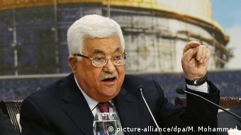Palestinian President Mahmoud Abbas addresses the PNC (picture-alliance/dpa/M. Mohammed)