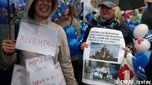 1. Mai-Demonstration in St. Petersburg