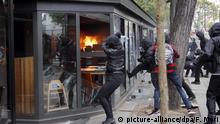 1. Mai Proteste Paris Frankreich