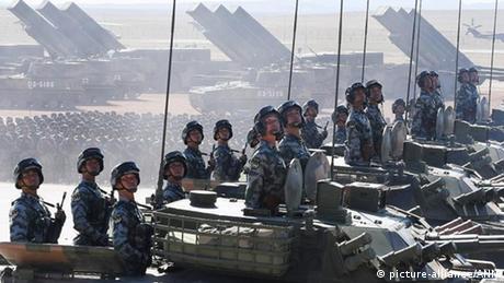 China Peking Militärparade (picture-alliance/ANN)