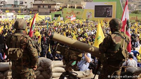 Libanon 15. Jahrestag Abzug Israel Hisbollah Kämpfer Waffen (picture-alliance/AA)