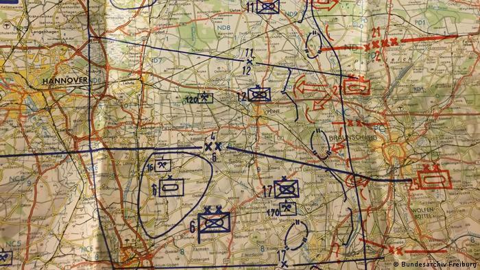 Map showing Braunschweig (Ausschnitt)