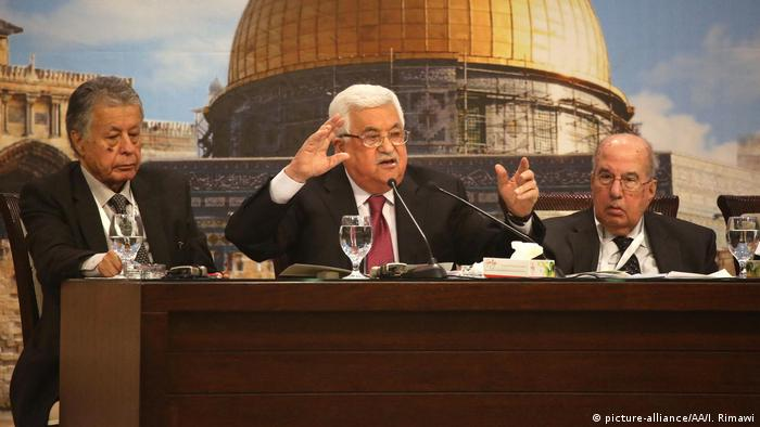 Mahmoud Abbas at the Palestinian National Council