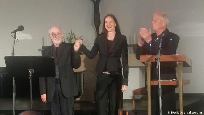 Ο συνθέτης και μουσικός Γκέχαρντ Φόλκερτς, η τραγουδίστρια Γιούλια Σιλίνσκι και ο ηθοποιός Ρολφ Μπέκερ