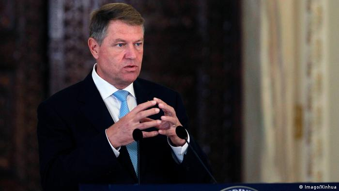 Rumänien Klaus Iohannis, Präsident in Bukarest (Imago/Xinhua)