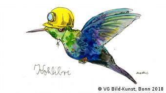 Kohlibri - робота Ульріке Мартенс, виставлена у Людвіг Галері Шлосс Оберхаузен