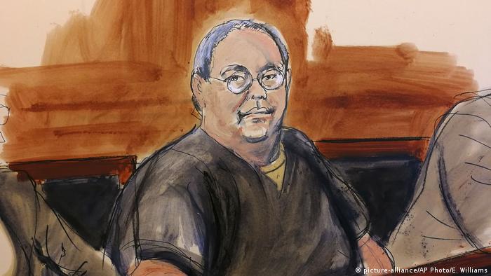 USA Skizze von Chi Ping Patrick Ho im Gericht