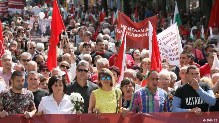 Bulgarien Sofia - 1. Mai. Aktion von den bulgarischen Sozialisten
