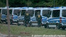 Deutschland Polizeieinsatz im Flüchtlingsheim