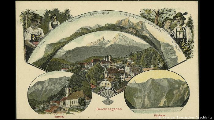 Открытка с видами Баварии