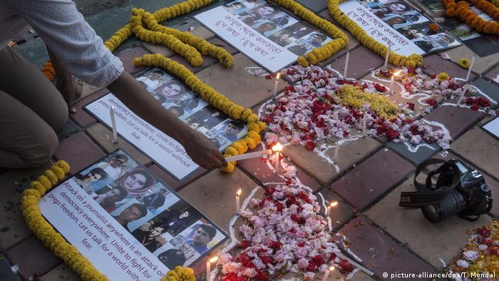 Homenagem a jornalistas assassinados na capital afegã, Cabul