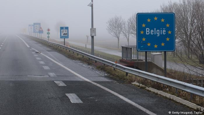 Belgian sign on border with France (Getty Images/J. Taylor)