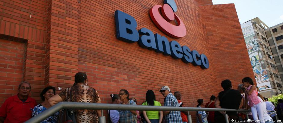 Filial do Banesco em Maraicabo: maior banco privado da Venezuela