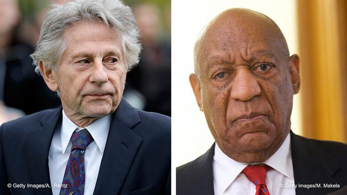 A combination picture of Roman Polanski and Bill Cosby
