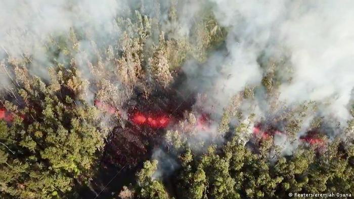USA Kilauea Vulkanausbruch auf Hawaii (Reuters/eremiah Osuna)