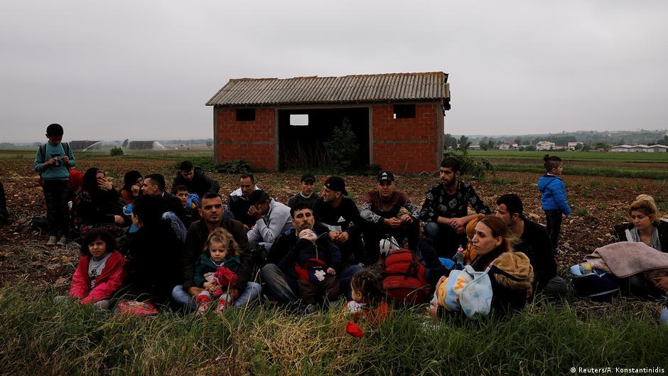 Flüchtlinge auf der Landroute Türkei-Griechenland