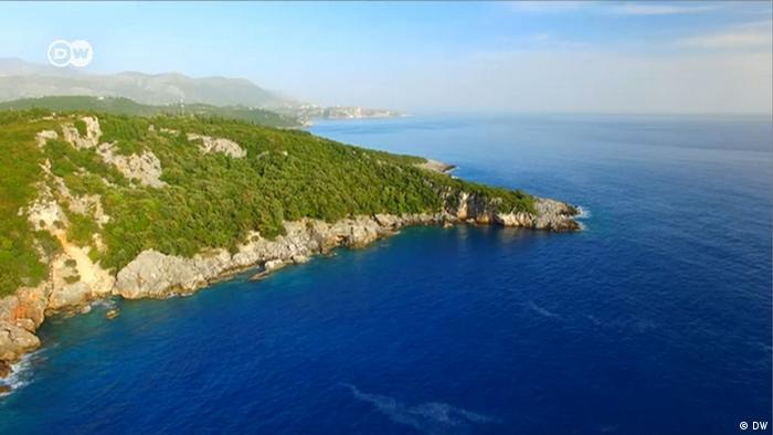 Videostill albanisches Programm Meeresgrenze (DW)