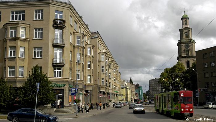 A street view of Liepaja, Latvia