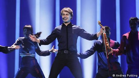 Alexander Rybakat Eurovision rehearsal (Andres Putting)