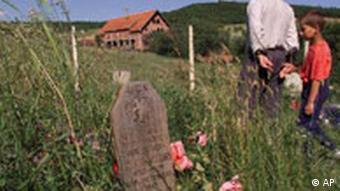 The grave of a person killed in the Kosovo War in central Kosovo