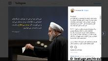 Screenshot Instagram Hassan Rouhani