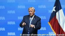 USA Donald Trump besucht NRA