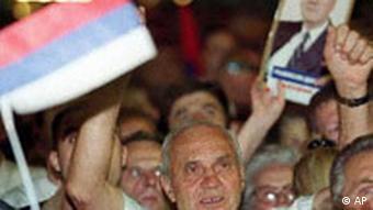 Unterstützer von Milosevic
