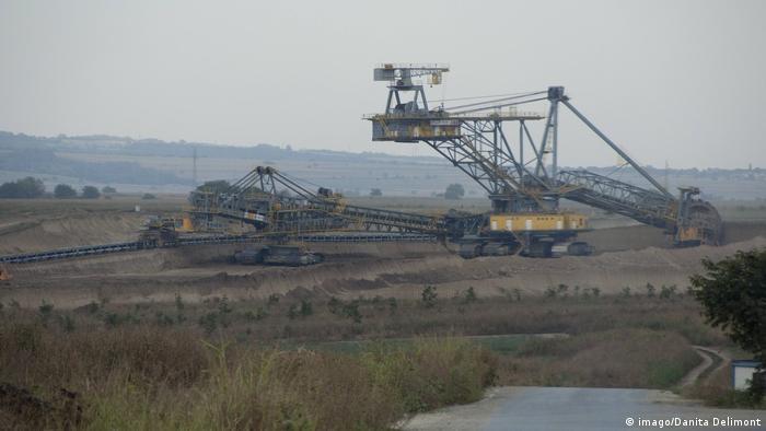 Kohlemine in Kostolac, Serbien
