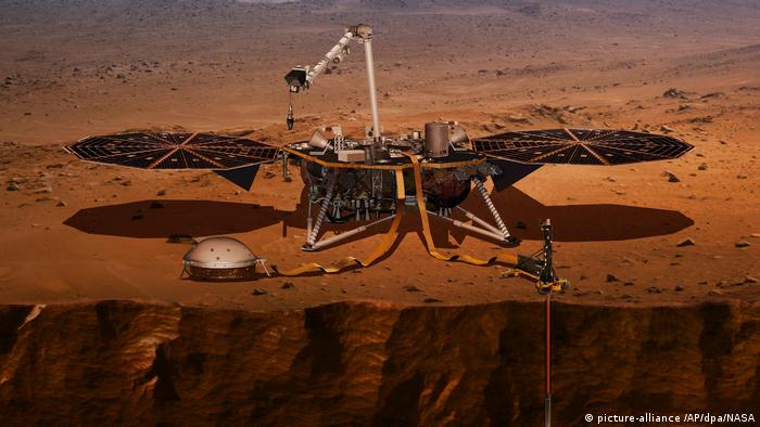 Lander InSight Landefahrzeug (picture alliance / NASA/AP/dpa)