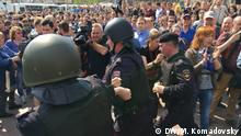 Proteste in Russland Moskau