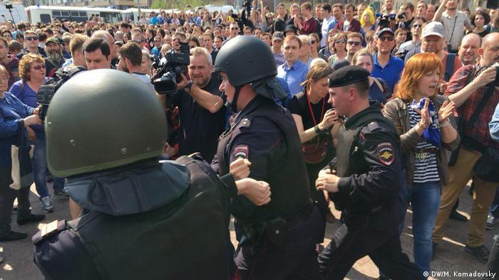 Proteste in Russland Moskau (DW/M. Komadovsky)