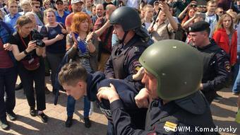 Proteste in Russland Moskau