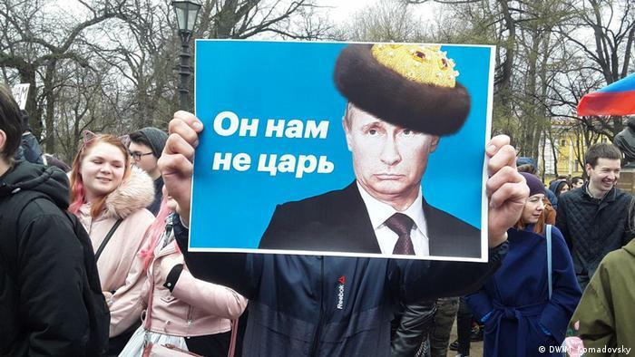 Proteste in Russland Sankt Petersburg