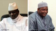 Kombibild von Gambias Ex-Präsident Yahya Jammeh und dem gegenwärtigen Präsidenten Adama Barrow