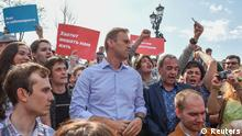 Russian opposition leader Alexei Navalny (C) attends a protest rally ahead of President Vladimir Putin's inauguration ceremony, Moscow, Russia May 5, 2018. REUTERS/Stringer NO RESALES. NO ARCHIVES.