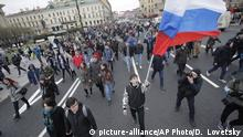 Anti-Putin-Demonstration in Sankt Petersburg
