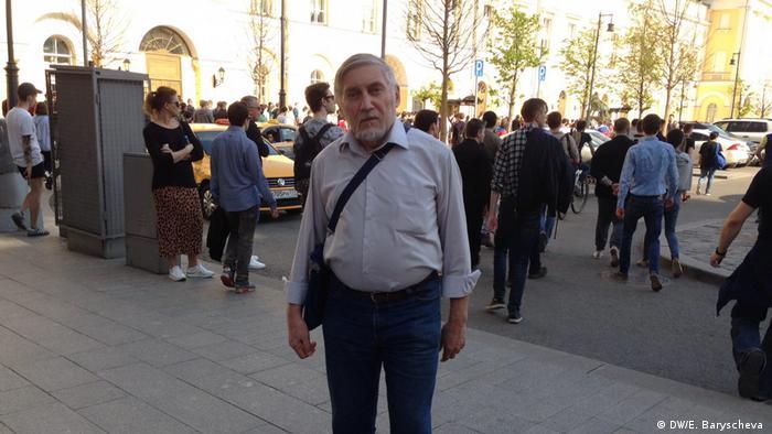 Участник митинга Он нам не царь в Москве Дмитрий.