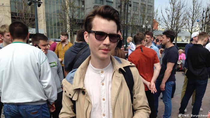 Участник митинга Он нам не царь в Москве Виталий.