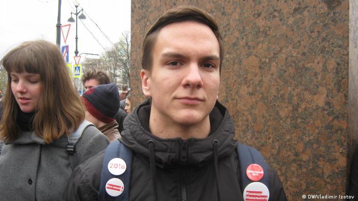 Участник митинга Он нам не царь в Санкт-Петербурге Андрей.