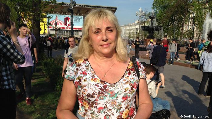 Участница митинга Он нам не царь в Москве Галина.